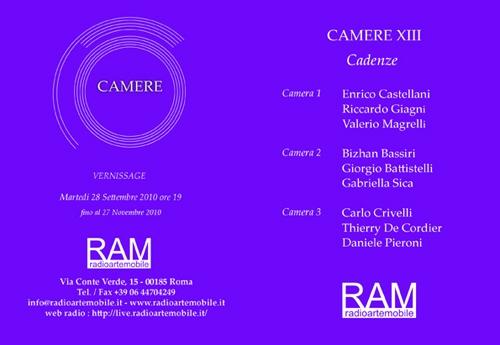 CAMERE XIII Invitation