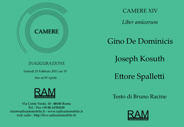 CAMERE XIV Invitation