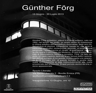 Gunther Forg per arte dal vivo