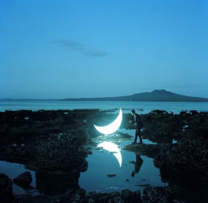 Leonid Tishkov_Private Moon_New Zealand_volcano Rangitoto_2010