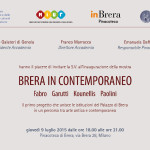 Invitation to Brera in Contemporaneo