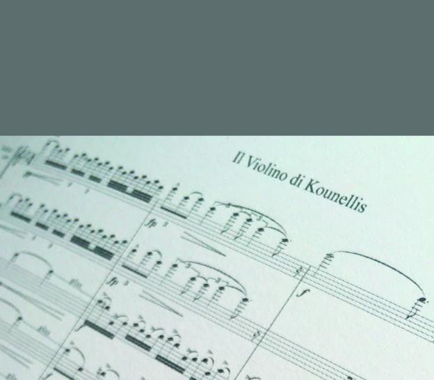 Partitura del Violino di Kounellis