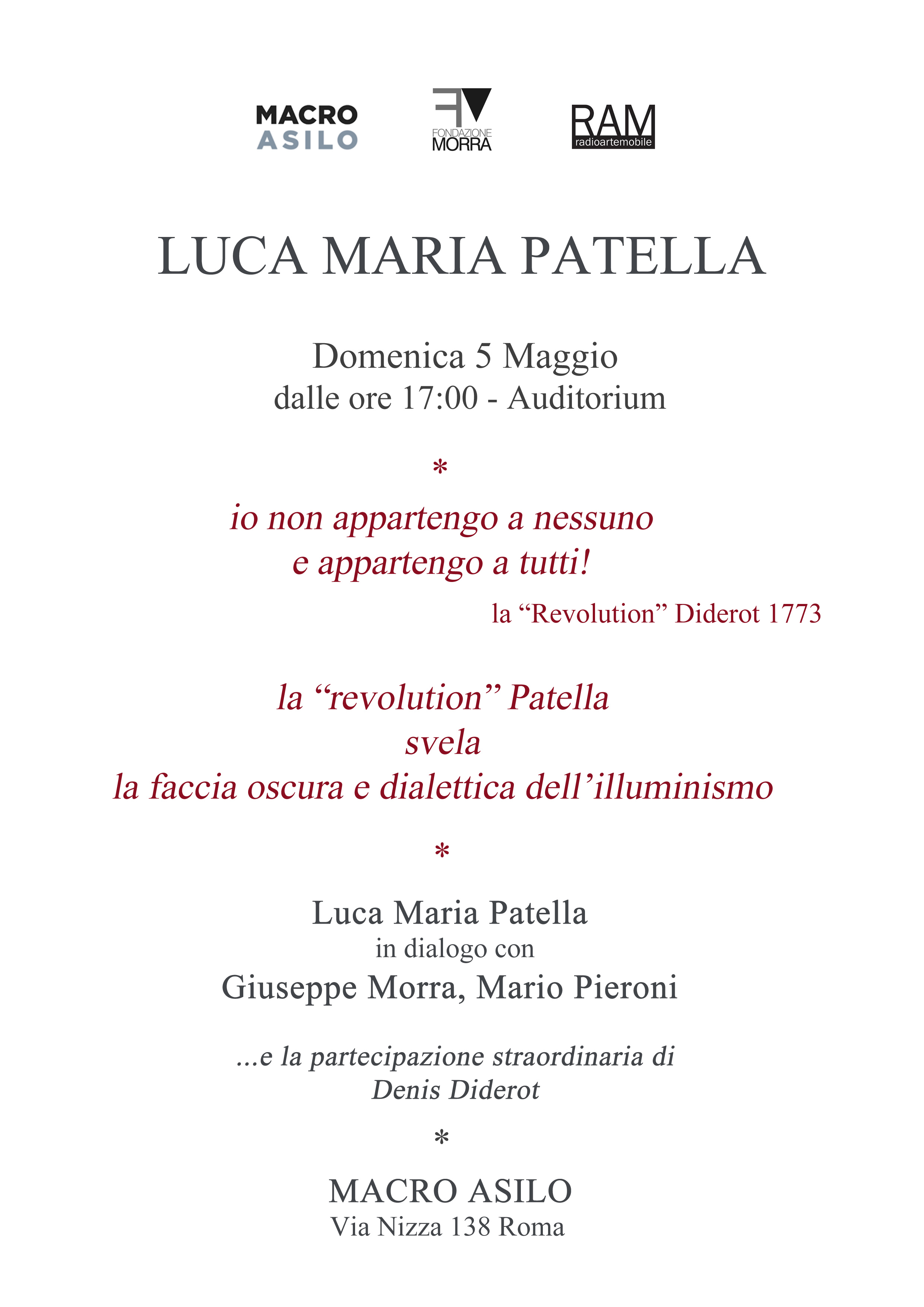 Banner Luca Maria Patella Macro Asilo