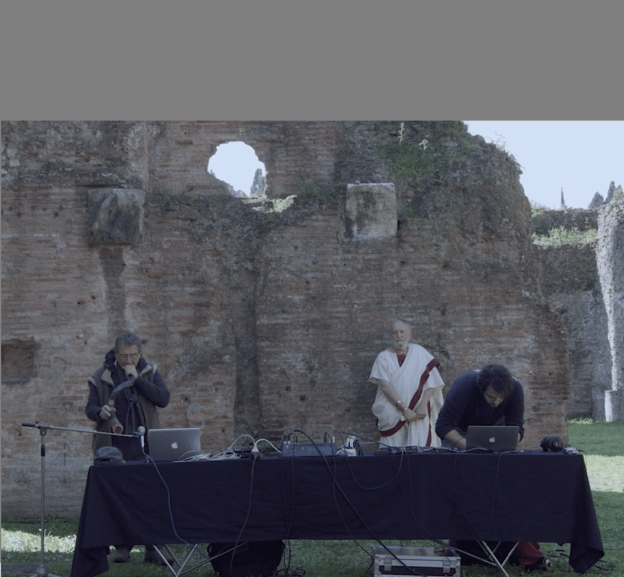 image from the live at Terme di Caracalla