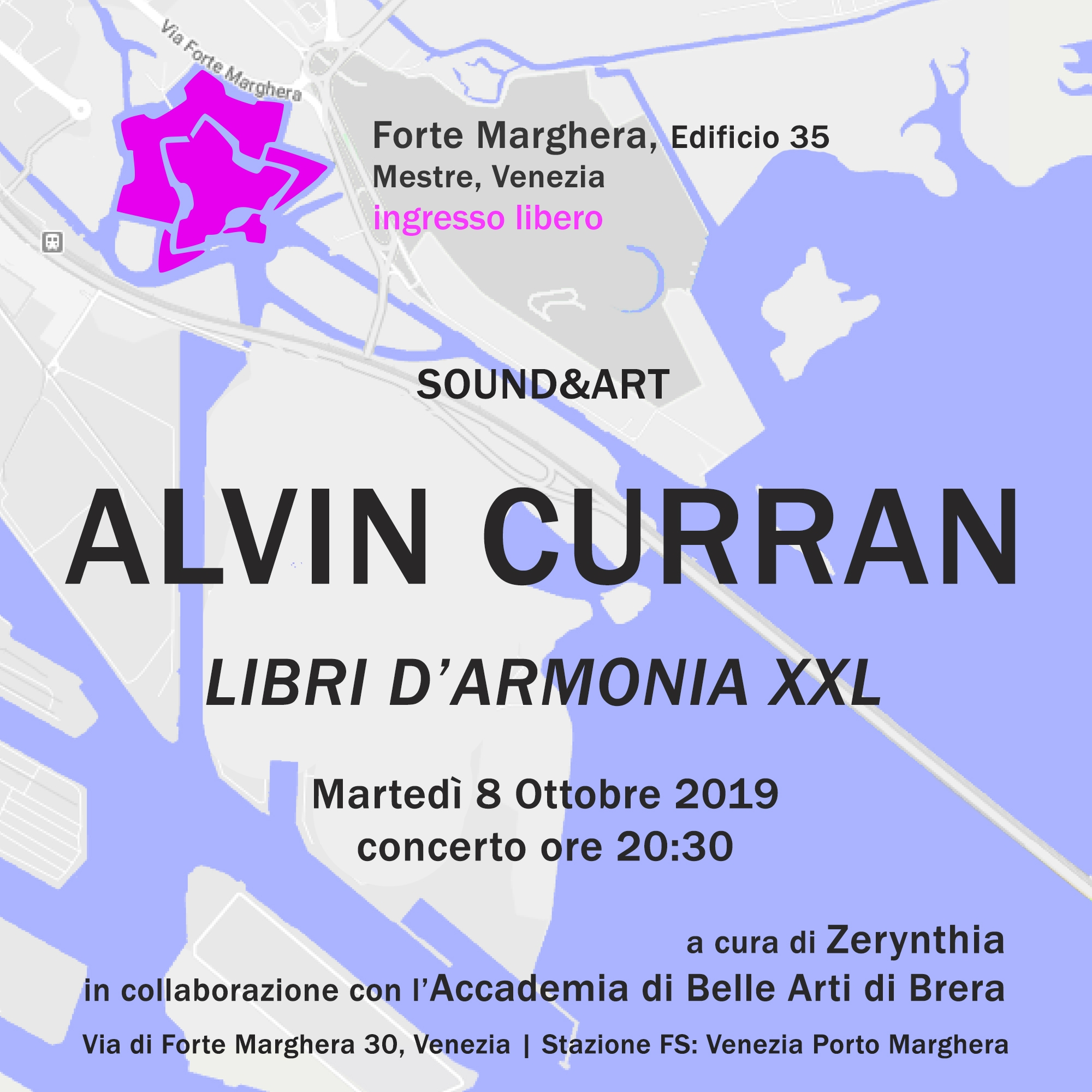 Invitation at Alvin Curran event
