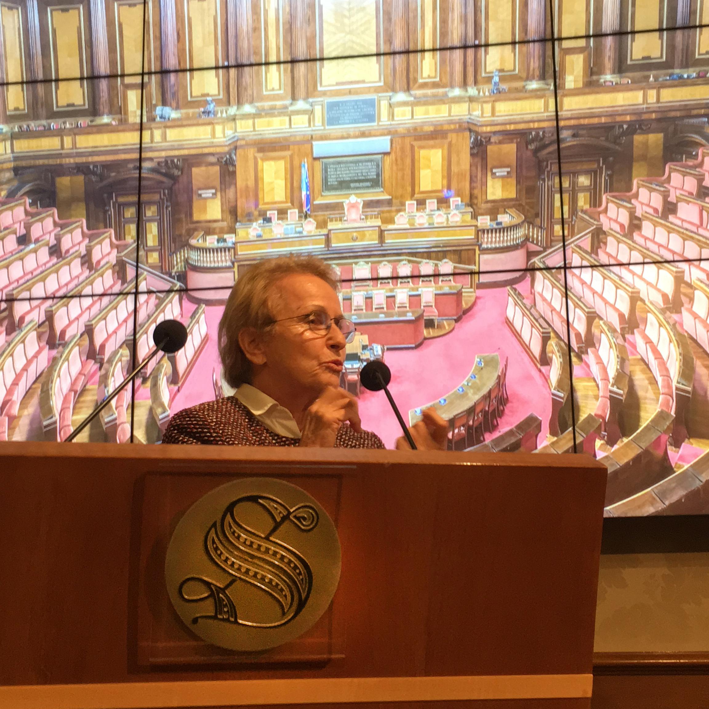 Dora Stiefelmeier in Senato